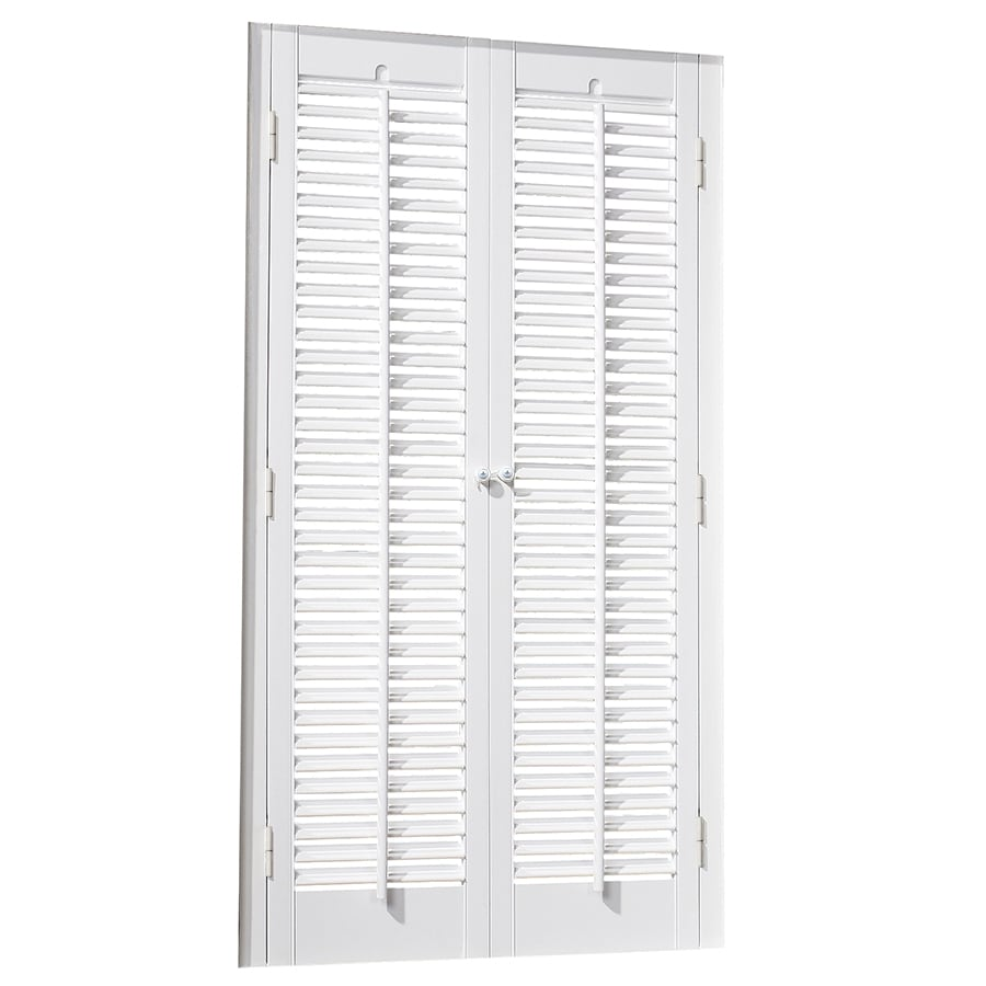allen + roth 23-in to 25-in W x 20-in L Colonial White Faux Wood Interior Shutter