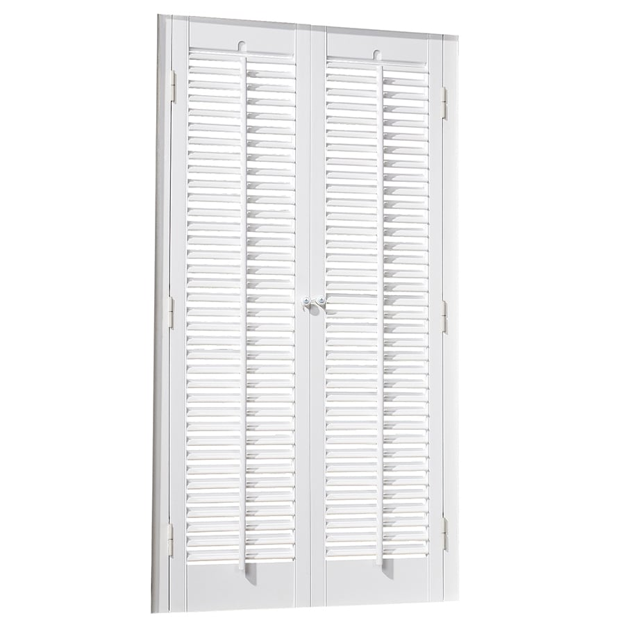 allen + roth 23-in to 25-in W x 24-in L Colonial White Faux Wood Interior Shutter