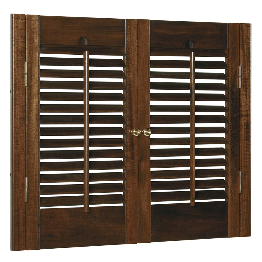 Style Selections 23-in to 25-in W x 32-in L Colonial Mahogany Wood Interior Shutter