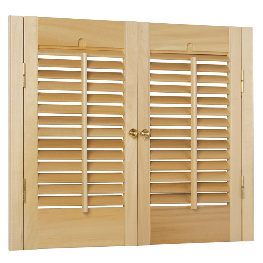 Shop Style Selections 23 In To 25 In W X 28 In L Colonial Golden Oak Wood Interior Shutter At
