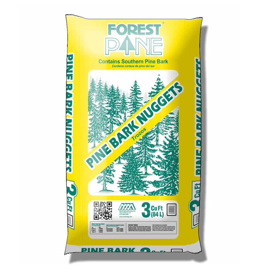Forest Pine Mulch 3-cu ft Light Brown/Gold Large Nuggets Pine Bark Mulch