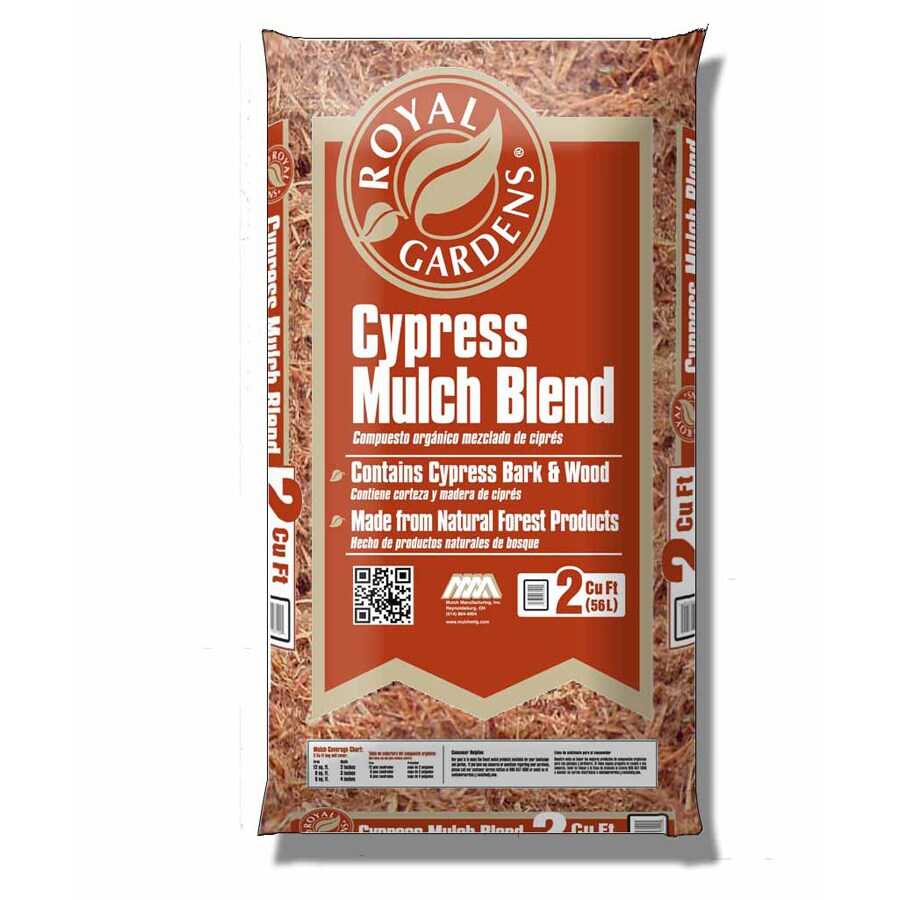 Royal Gardens 2-cu ft Light Brown Gold Cypress Blend Mulch