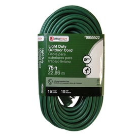 Utilitech 75 Ft 16 Awg 3 Sjtw 10 Amps General Extension Cord
