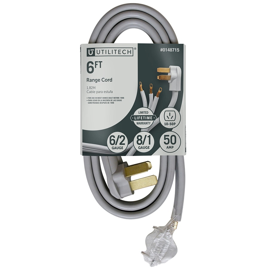 Utilitech Gray Range Appliance Power Cord