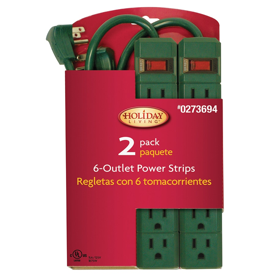 Holiday Living 6-Outlet Power Strip with Built-in Circuit Breaker