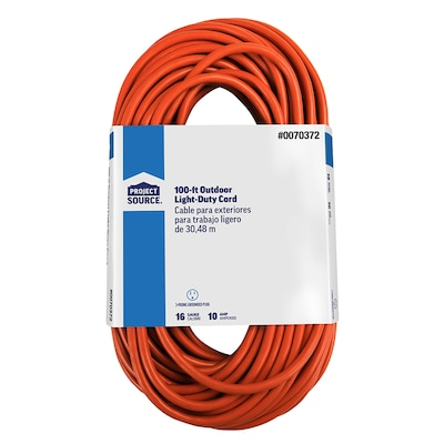 100-ft 16/3 SJTW 10-Amps General Extension Cord on