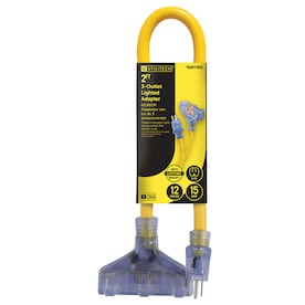 Utilitech Pro Utilitech Pro 2-ft 12/3 3-Prong STW Heavy Duty Lighted Extension Cord