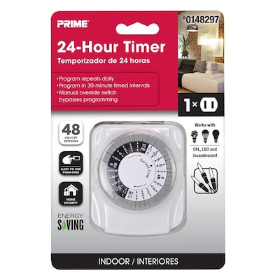 PRIME 1-Outlet Mechanical Countdown Lighting Timer at Lowes com