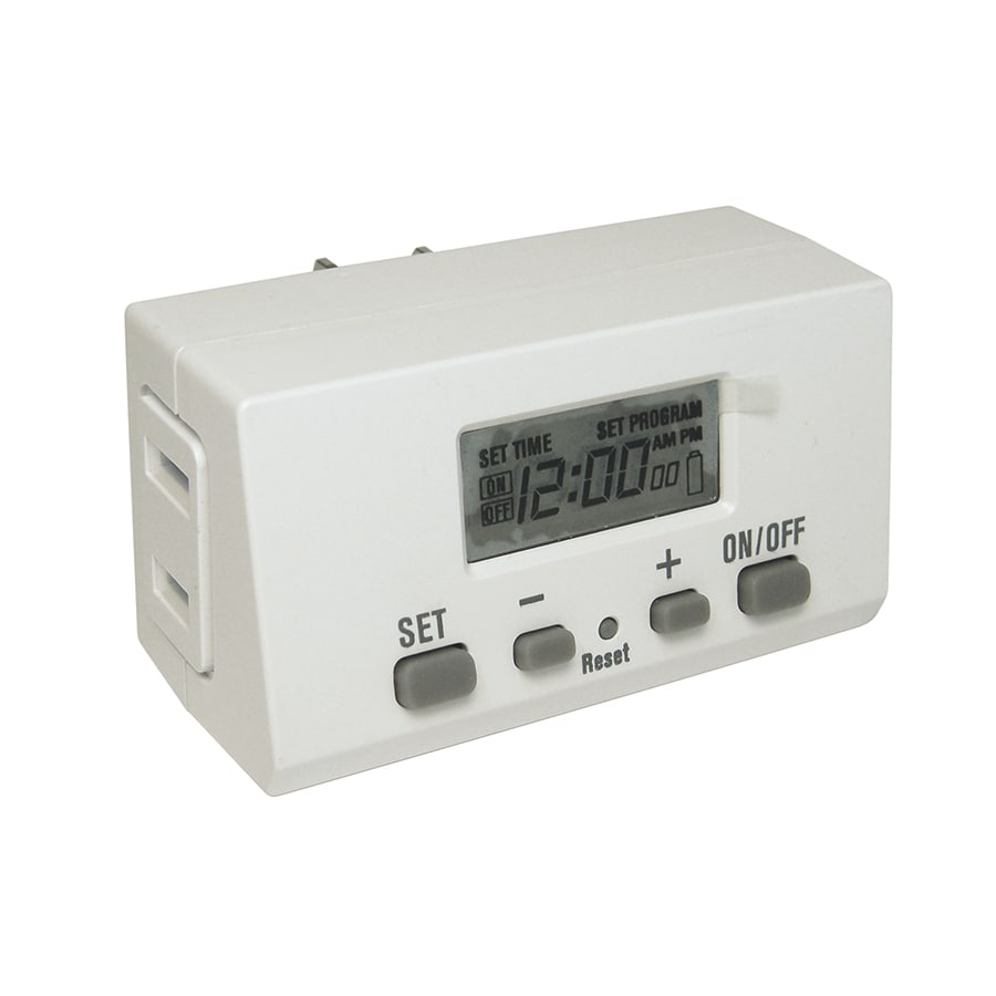 Utilitech 15 Amp 1 Outlet Digital Residential Plug In Lighting Timer
