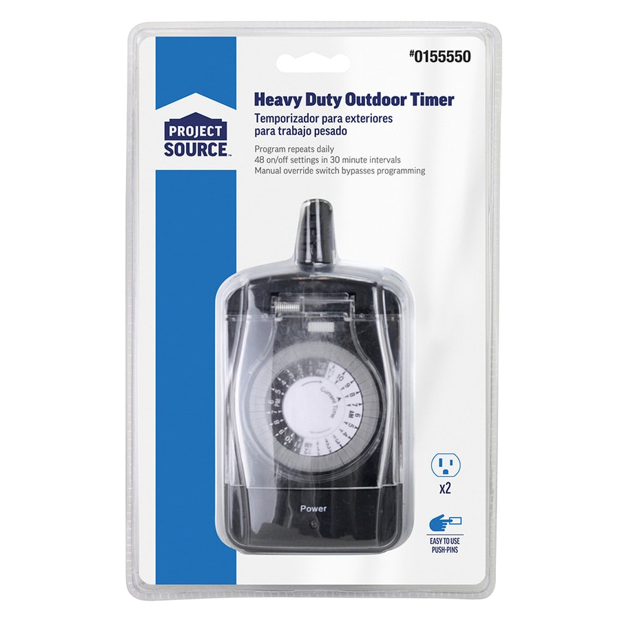 PRIME 15-Amp 2-Outlet Mechanical Residential Plug-in with Countdown  Function and - Shop Timers & Light Controls At Lowes.com