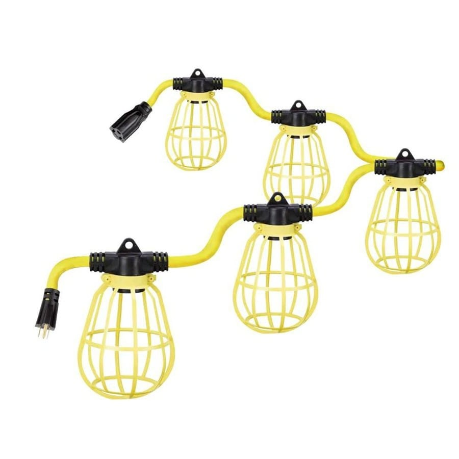Utilitech 50-ft 5-Light White Plastic-Shade Incandescent Plug-in Lantern String Lights