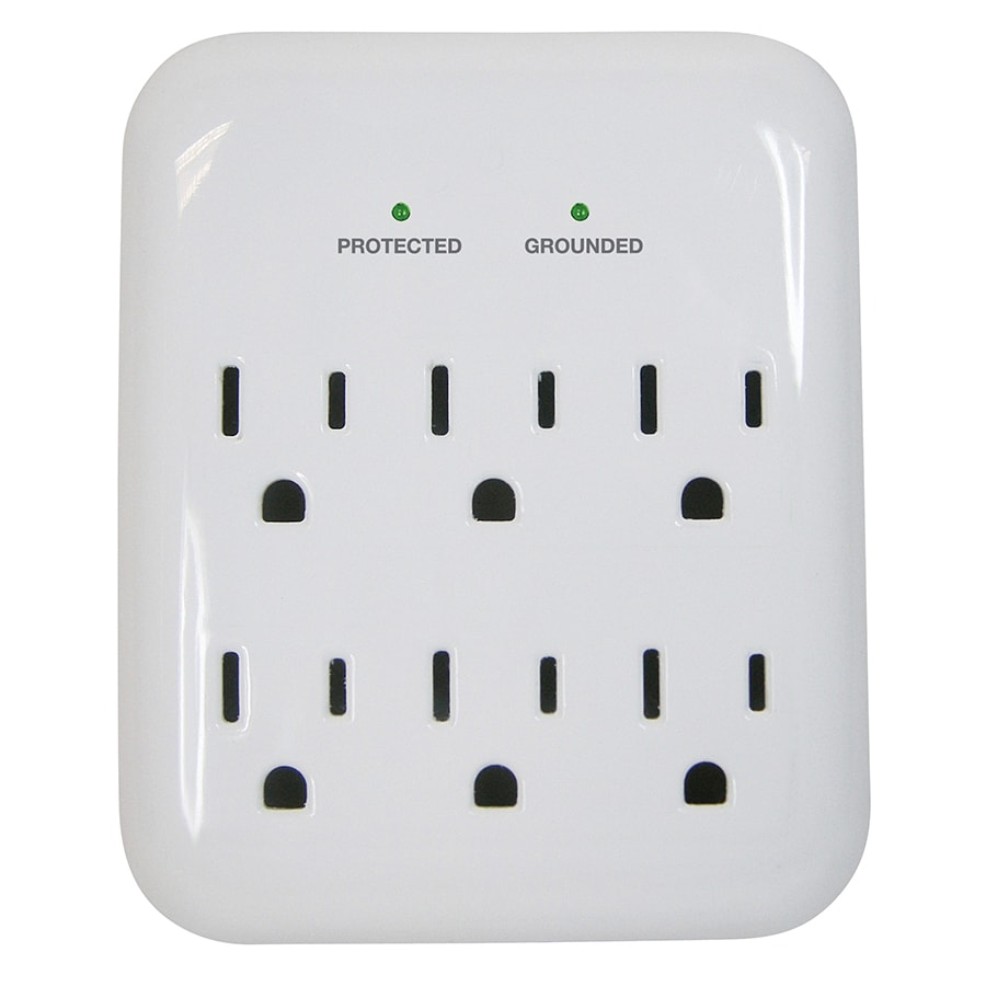 Utilitech 6-Outlet 900 Joules General Use Surge Protector (Auto-Off Safety)