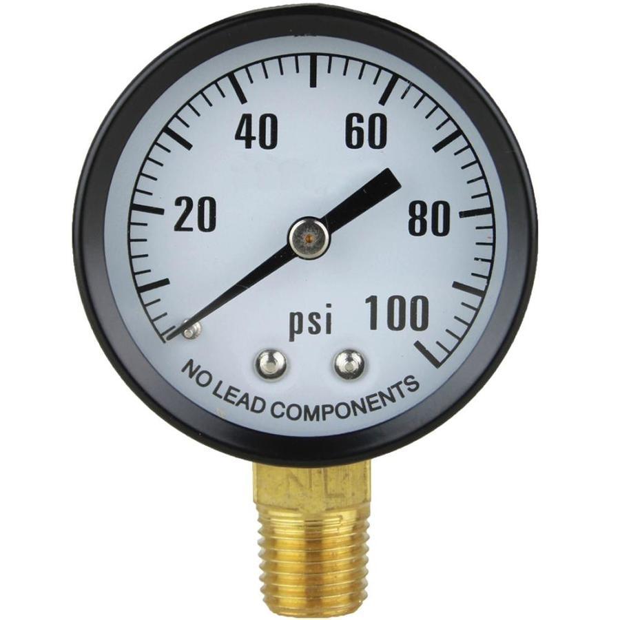 ProPlumber Steel Pressure Gauge