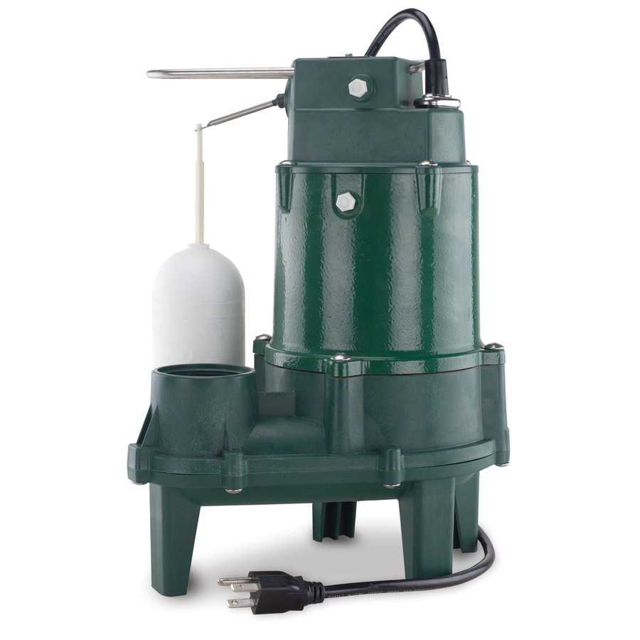 Thermoplastic Sump Pump Submersible 1//2 Hp Debris Sewage Suction