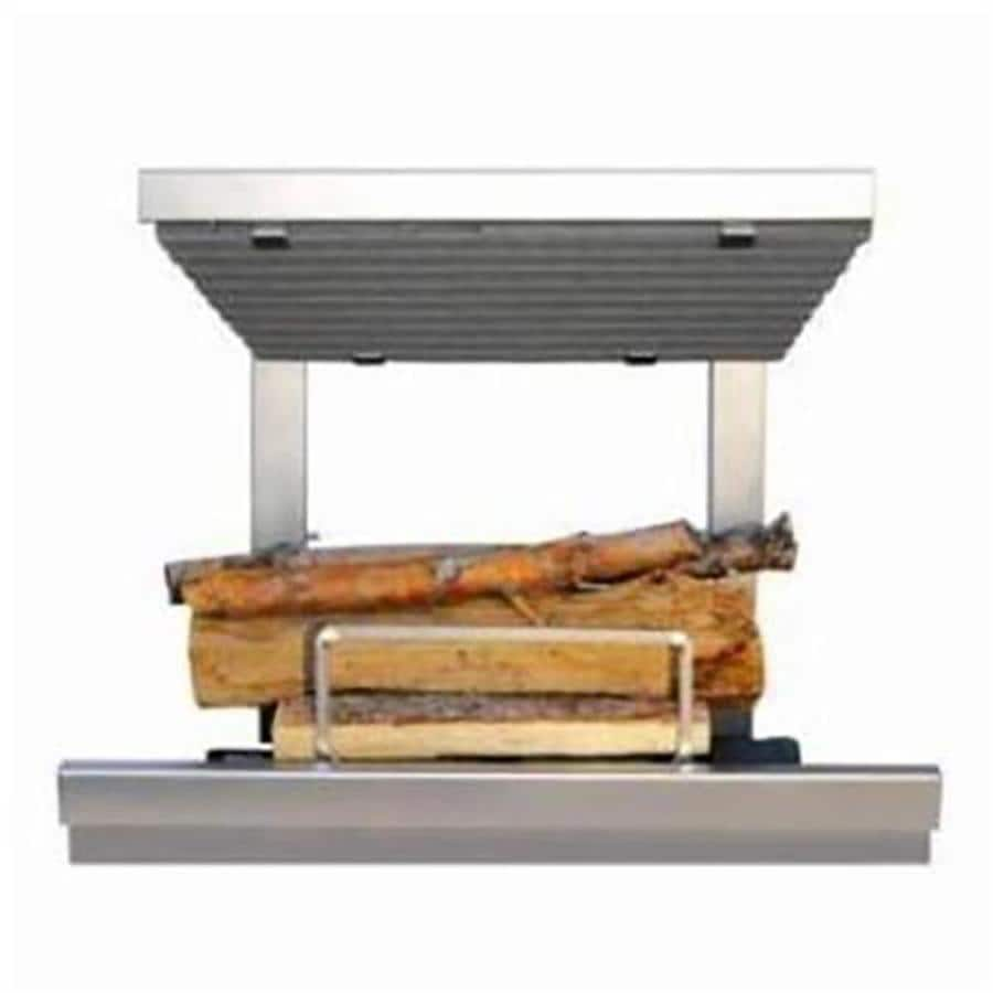 13.5-in W 800-BTU Stainless Steel Vented Dual-Burner Gas Fireplace Insert