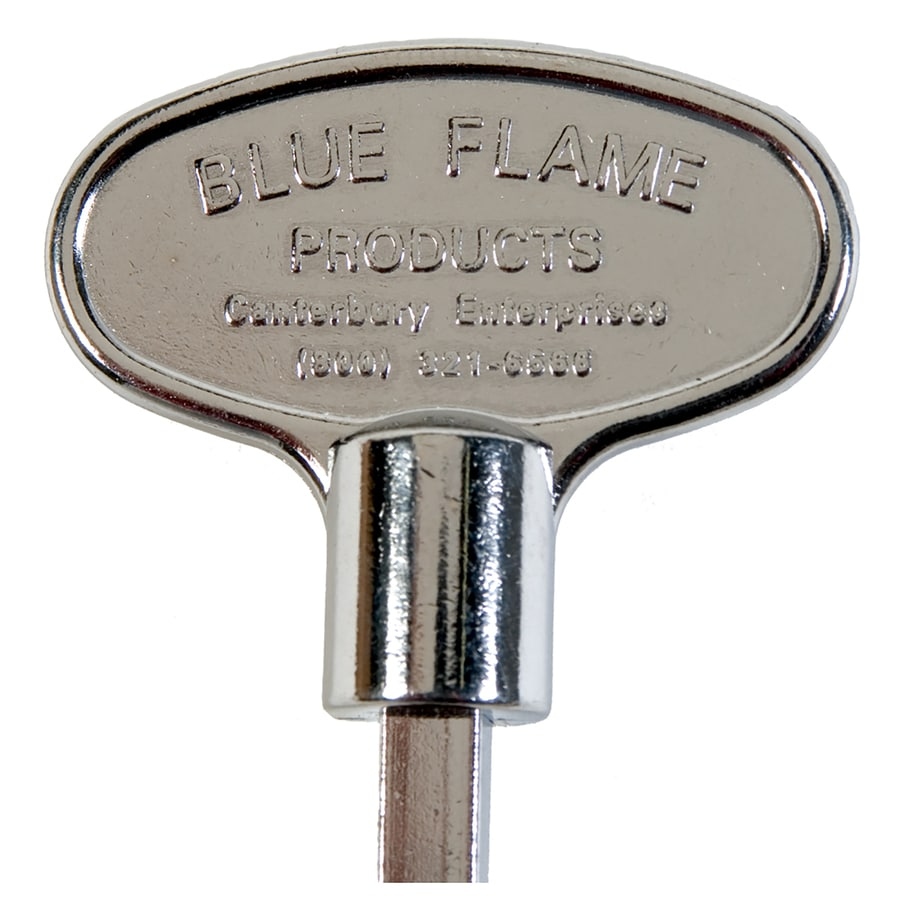 Blue Flame Universal 12-in Polished Chrome Gas Valve Key