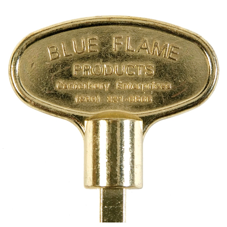 Blue Flame Universal 12-in Polished Brass Gas Valve Key