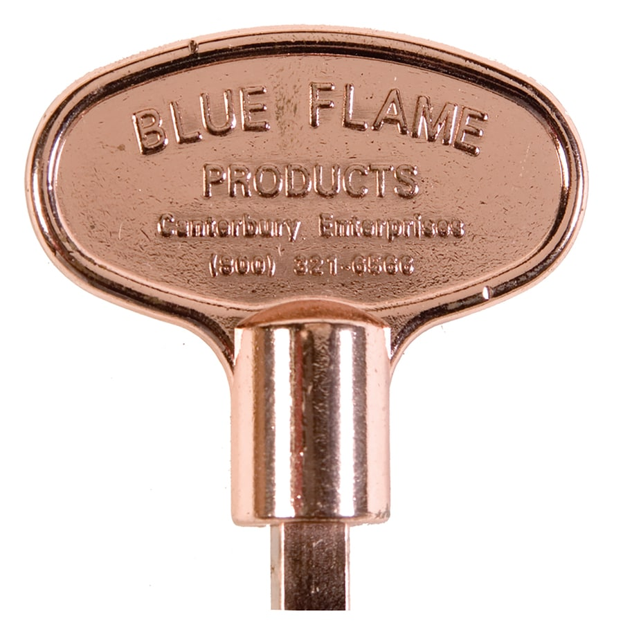 Blue Flame Universal 3-in Polished Copper Gas Valve Key