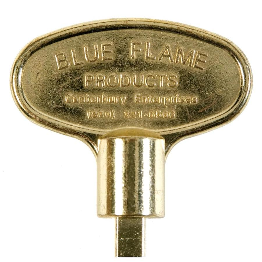 Blue Flame Universal 3-in Polished Brass Gas Valve Key