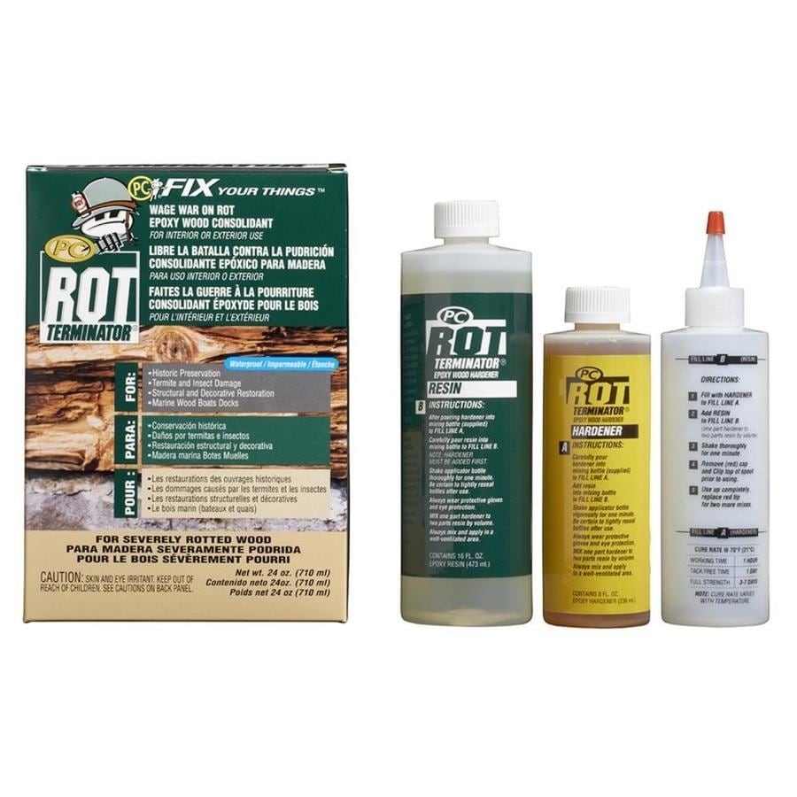 PC Products PC-Rot Terminator Rotted Wood Consolidant 24 oz.