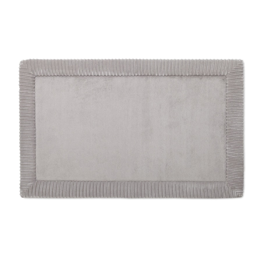 Allen Roth Romanesque Border 34 In X 21 Grey Polyester Memory Foam