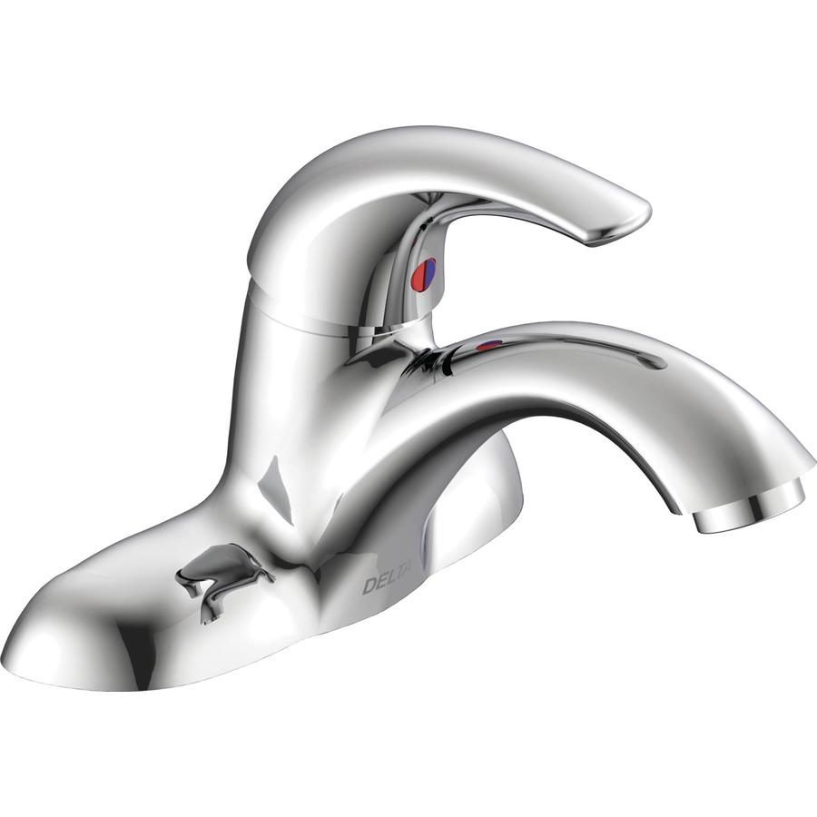 shop delta chrome 1 handle 4 in centerset commercial bathroom faucet
