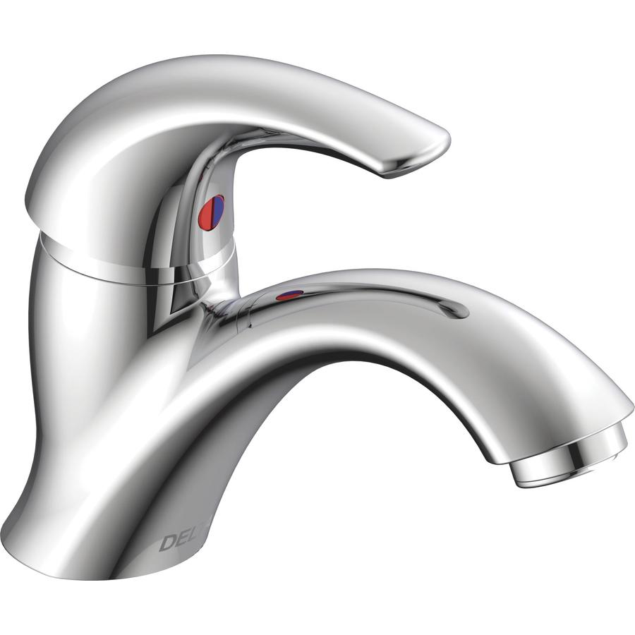 Delta Commercial Chrome 1-handle Single Hole Commercial Bathroom Sink Faucet