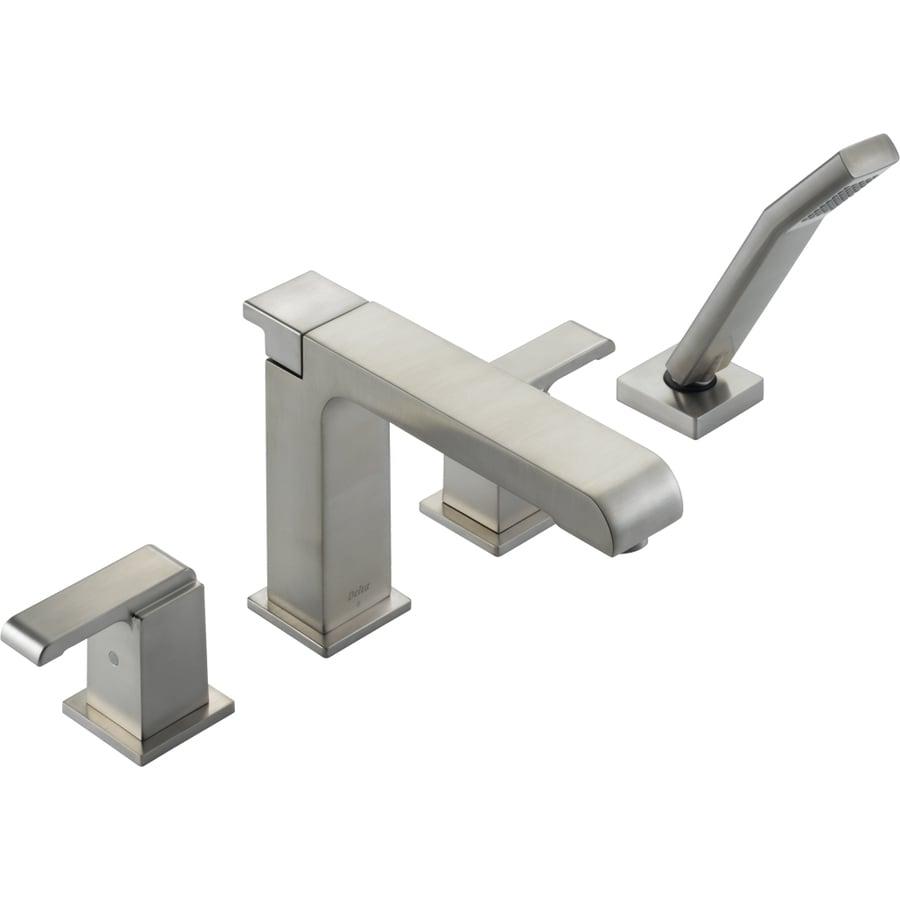 Delta Arzo Stainless 2-Handle Adjustable Deck Mount Bathtub Faucet
