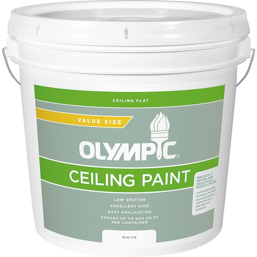 Olympic White Flat Latex Interior Paint (Actual Net Contents: 256-fl oz)