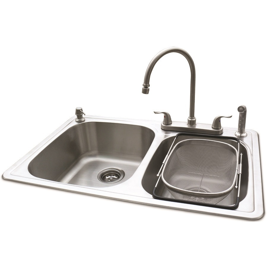 with taps plumbing steel stainless choice kit asp p bowl kitchen of sink single