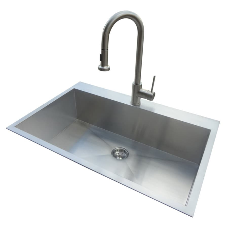 American Standard 22 In X 33 Silver Single Basin Stainless Steel Drop
