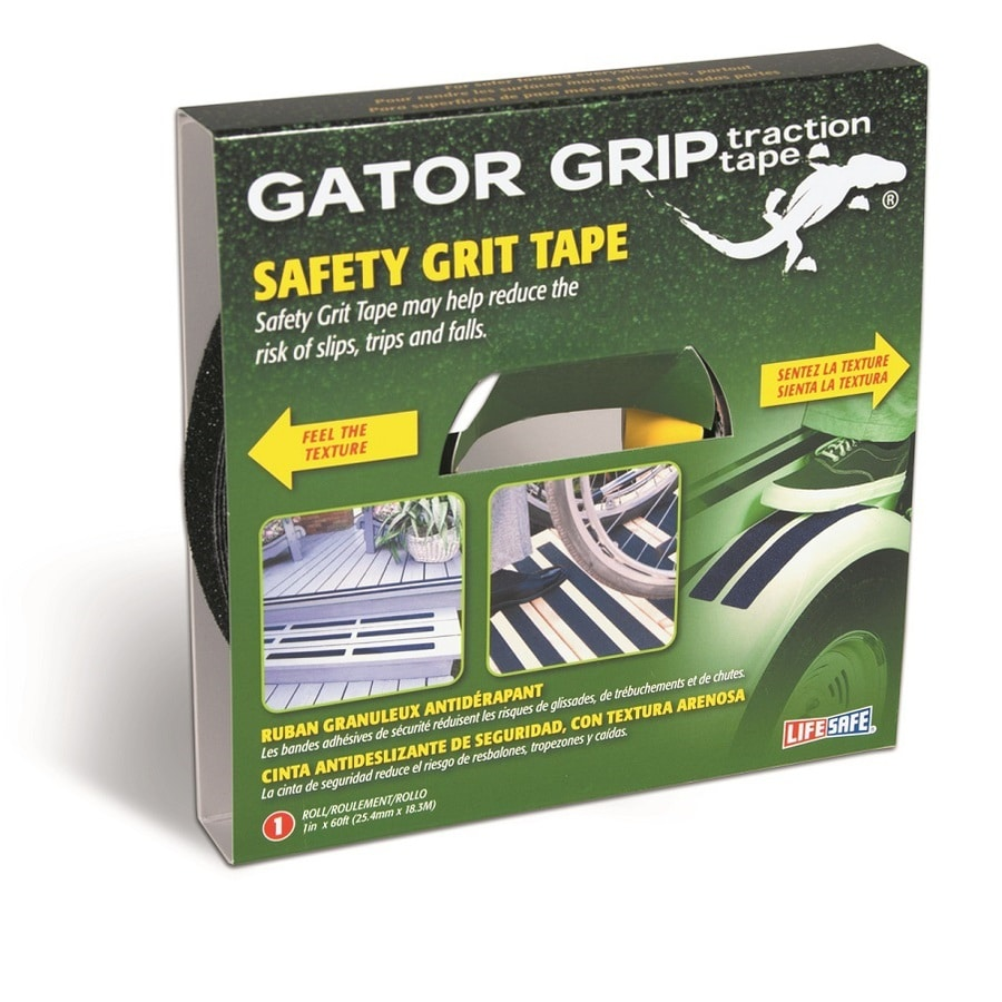 Life Safe Black Gator Grip Grit Tape
