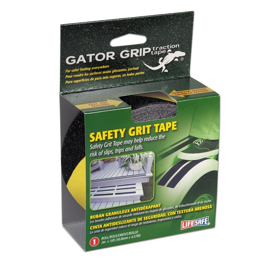 Life Safe Yellow/Black Gator Grip Grit Tape