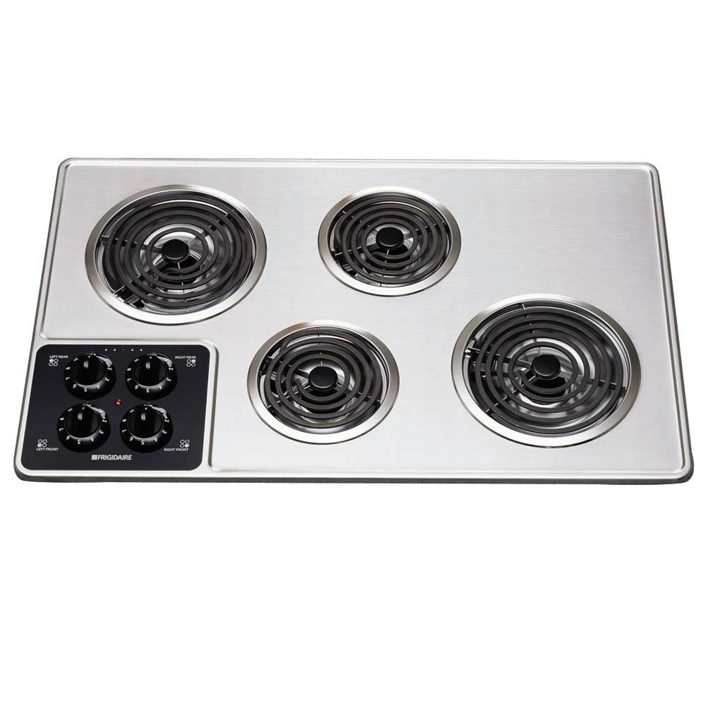 Frigidaire 32 Inch Electric Cooktop Color Stainless Steel