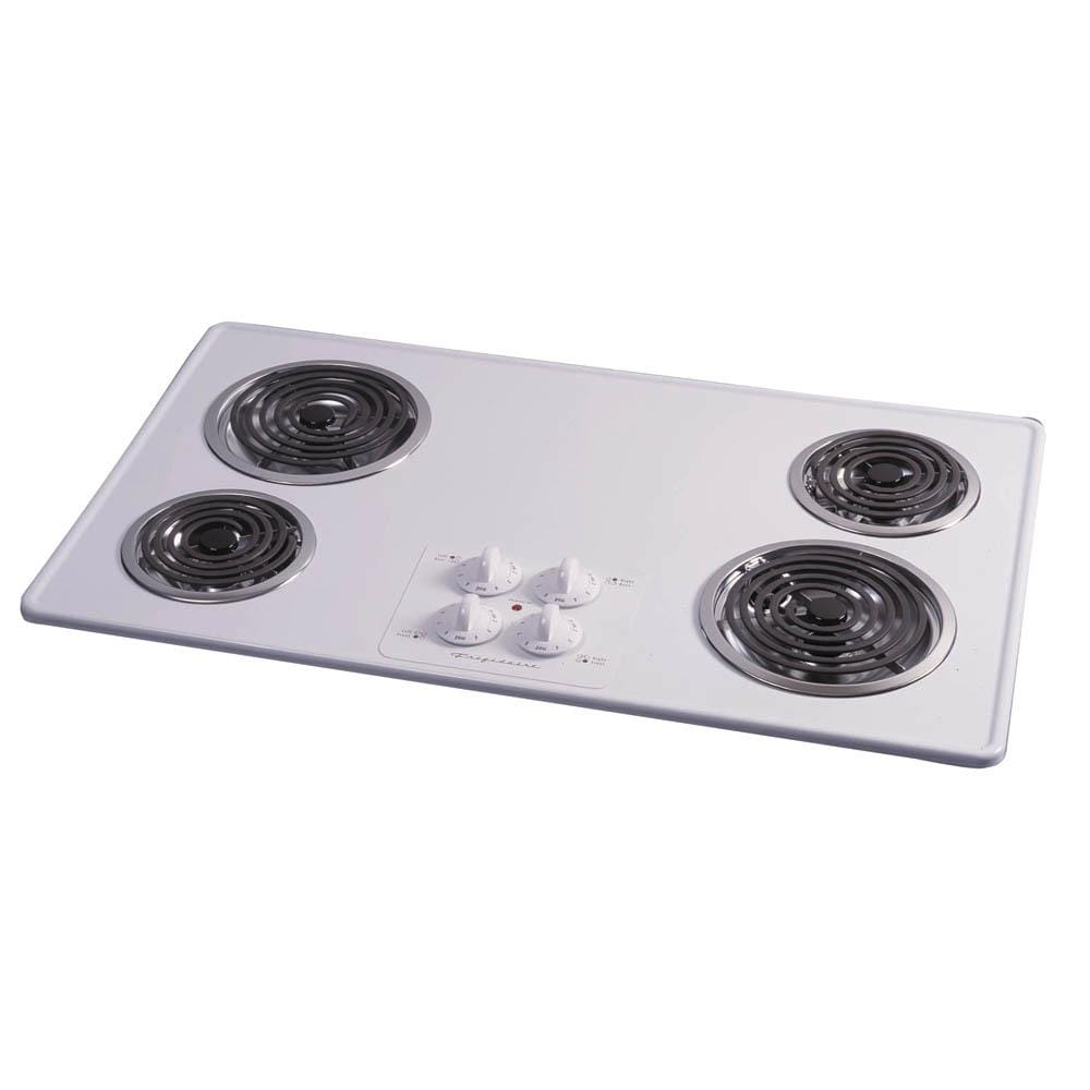 Lowes cooktops 36 inch - Frigidaire 36 Inch Electric Cooktop Color White
