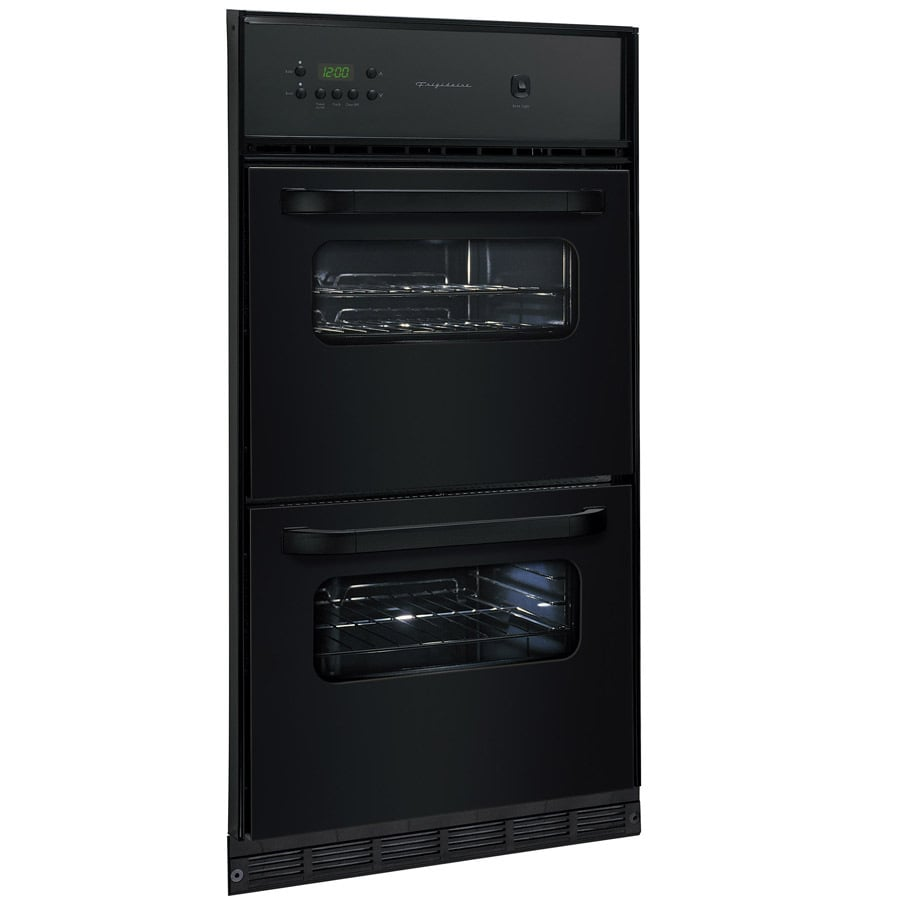 Frigidaire Gallery 24 In Double Gas Wall Oven Black At Lowes Com