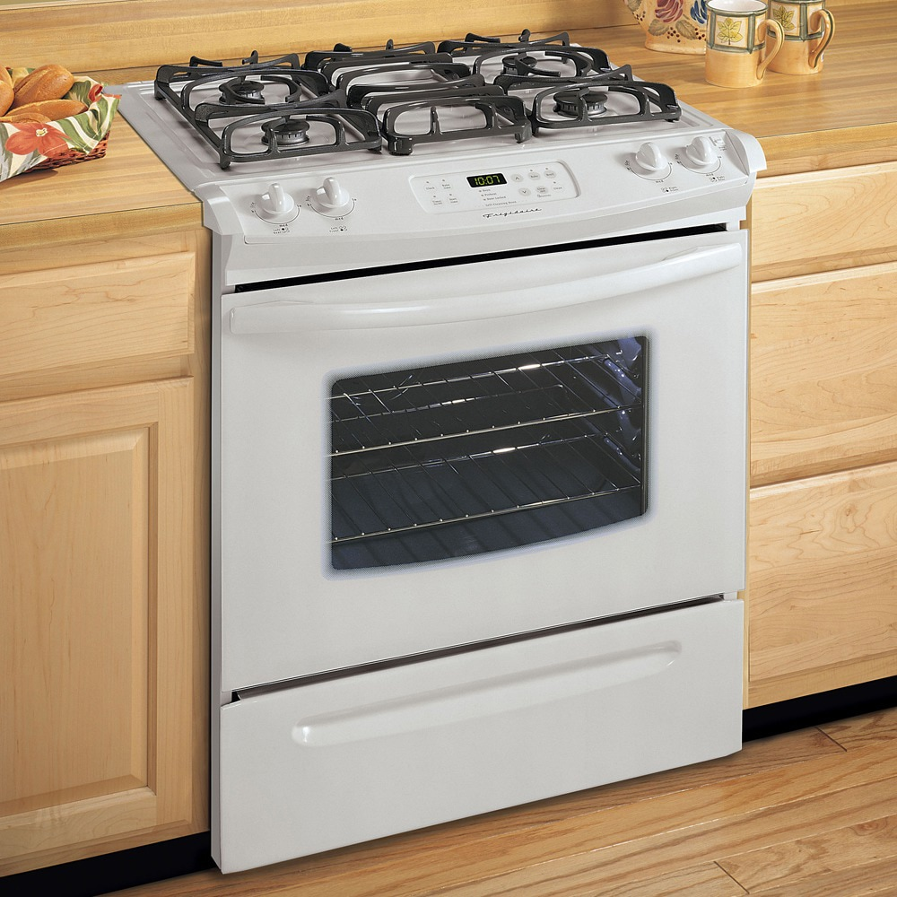Frigidaire 30 Inch Slide In Gas Range Color White