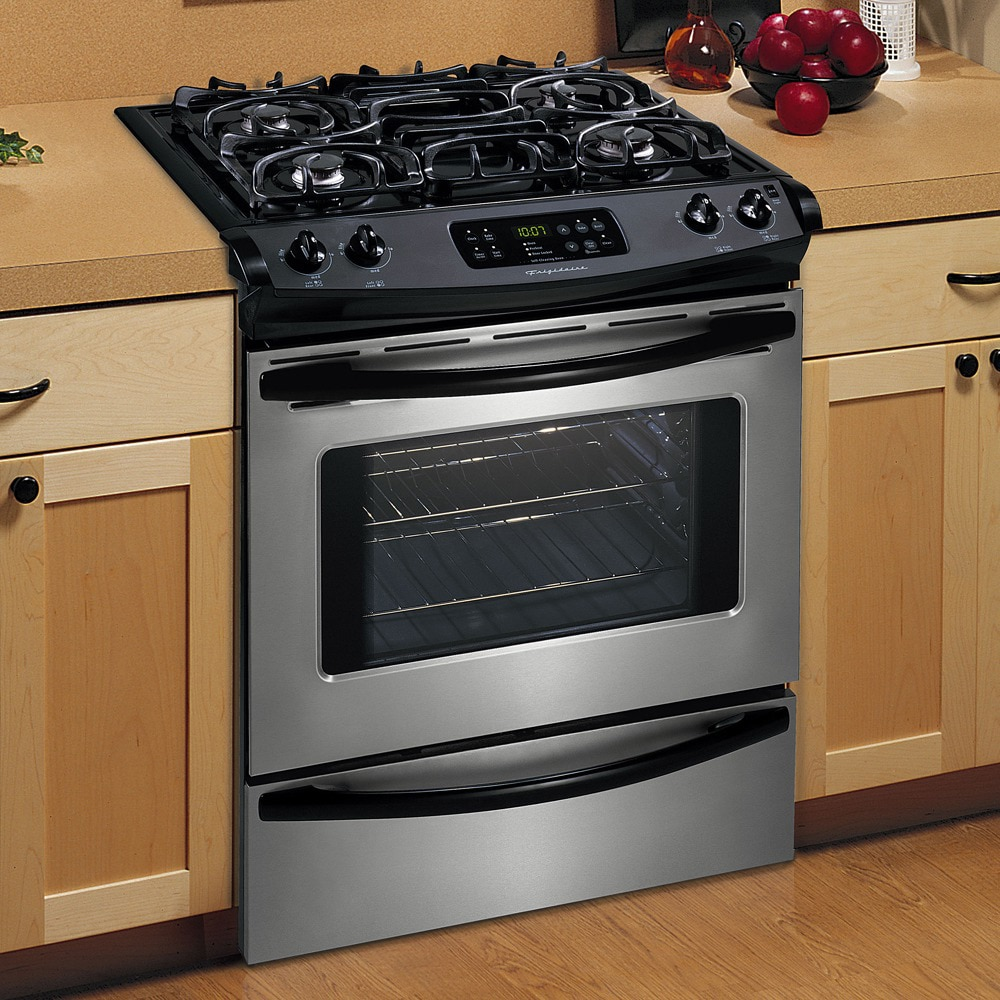 frigidaire 30inch slidein gas range color stainless