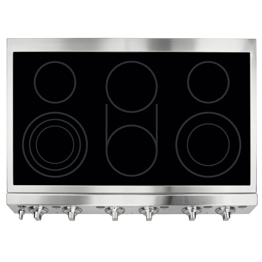 Electrolux ICON 5-Element Smooth Surface Electric Cooktop (Stainless Steel) (Common: 36-in; Actual 35.875-in)