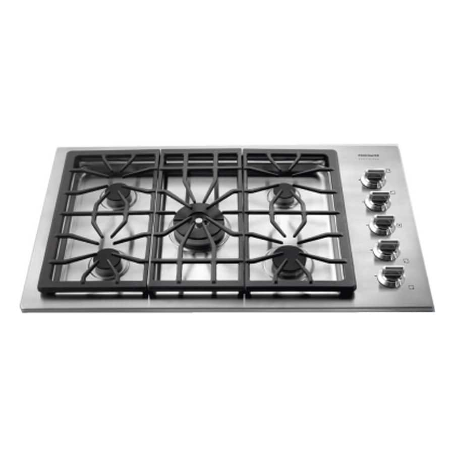 Frigidaire Professional 5-Burner Gas Cooktop (Stainless) (Common: 36-in; Actual 36-in)