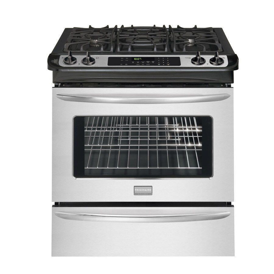 Frigidaire Gallery 30-in 4.2-cu ft Self-Cleaning Slide-In Convection Gas Range (Stainless)