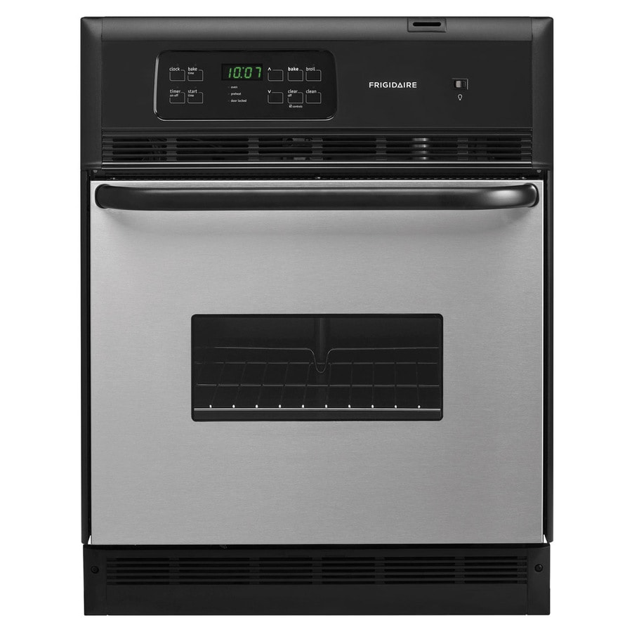 Frigidaire Self-Cleaning Single Electric Wall Oven (Stainless) (Common: 24-in; Actual 23.875-in)