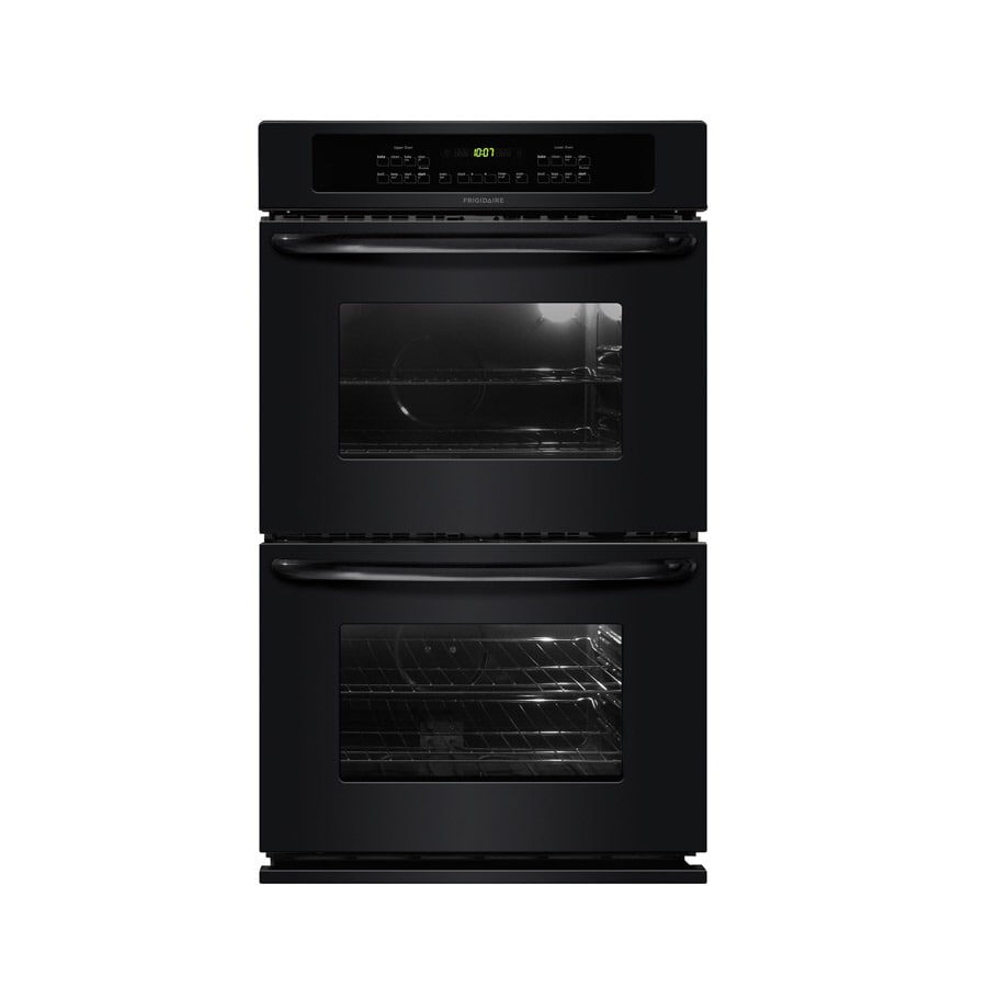 Frigidaire 30-in Self-Cleaning Double Electric Wall Oven (Black)