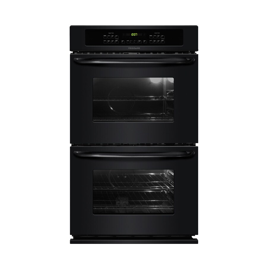 Frigidaire 27-in Self-Cleaning Double Electric Wall Oven (Black)