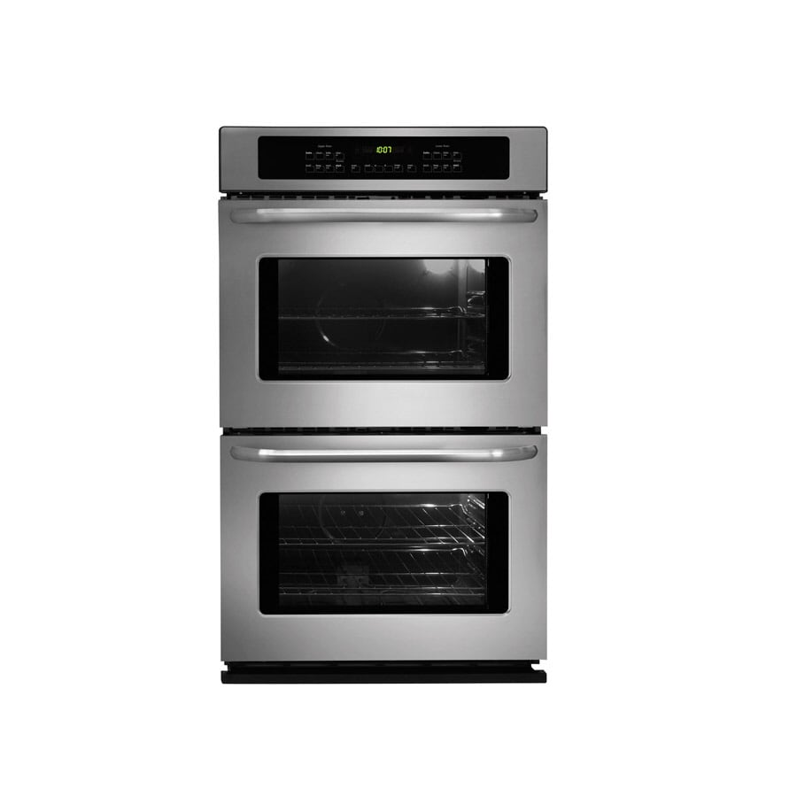 Frigidaire 27-in Self-Cleaning Double Electric Wall Oven (Stainless)