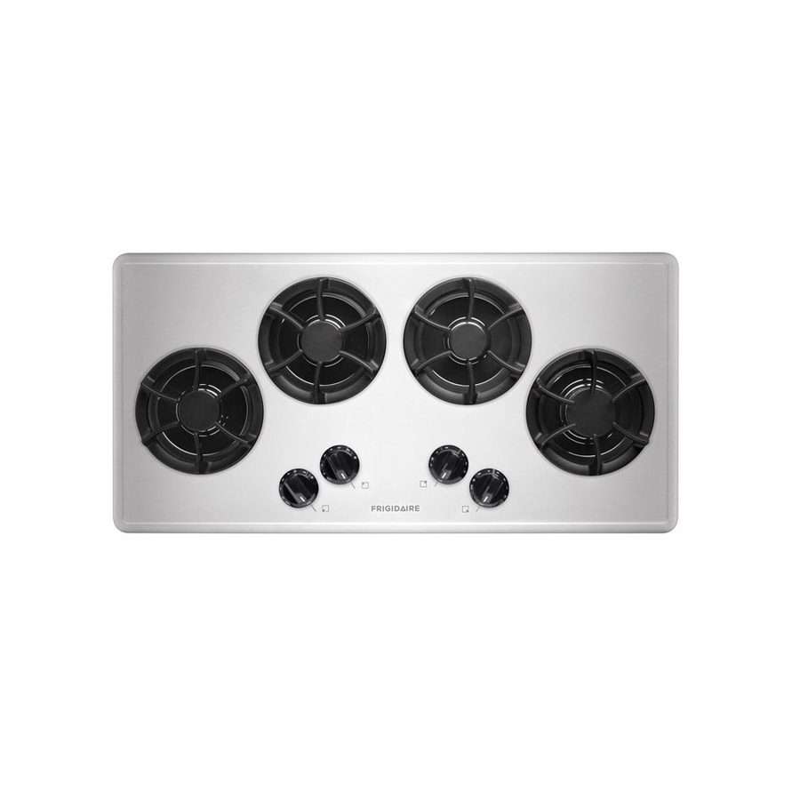 Frigidaire 4-Burner Gas Cooktop (Stainless Steel) (Common: 36-in; Actual: 36-in)