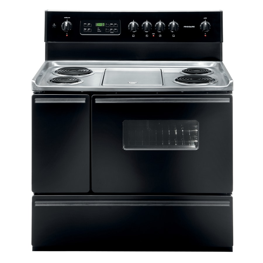 Attractive 40 Inch Electric Range Part - 8: Frigidaire 40-in Freestanding 3.7-cu Ft Self-Cleaning Electric Range (Black