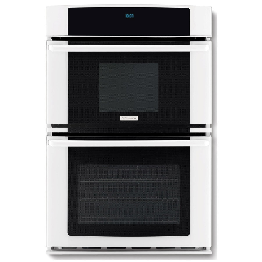 Electrolux 27-in Self-Cleaning Microwave Wall Oven Combo (White)