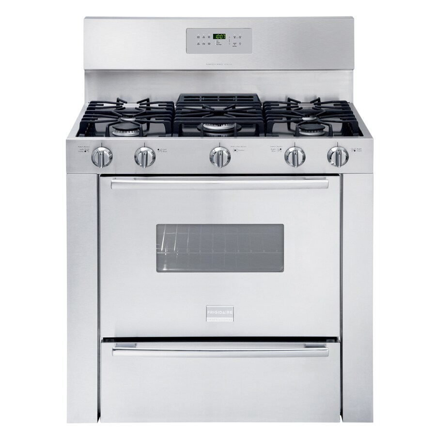 Frigidaire Professional 5-Burner Freestanding 3.7-cu ft Gas Range (Stainless Steel) (Common: 36-in; Actual 36-in)