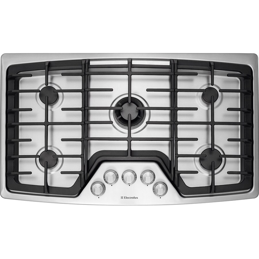 Electrolux 5-Burner Gas Cooktop (Stainless Steel) (Common: 36-in; Actual: 36-in)